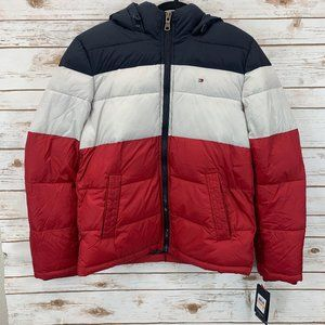 Tommy Hilfiger Men's Hooded Puffer Jacket Small